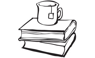 Cup On Stack Of Books Icon